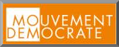 bouton Mouvement Democrate - blog