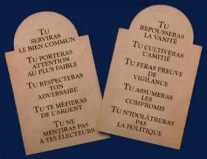 Les dix commandements de l homme politique modem ard che - Les tables des 10 commandements ...