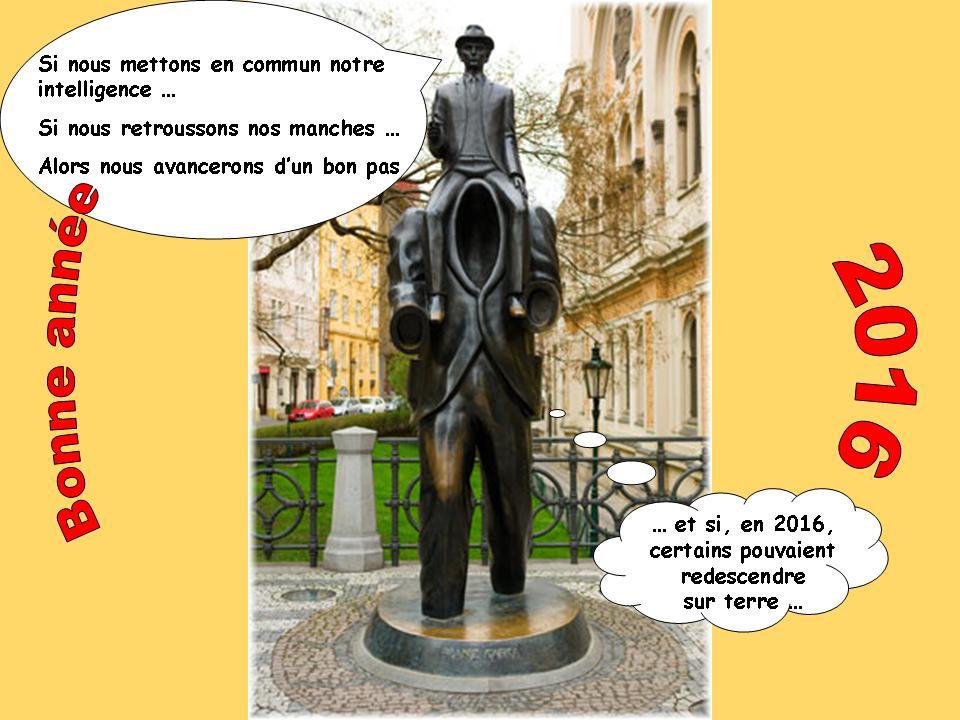 Statue en l'honneur de F. Kafka - J. Rona - Prague